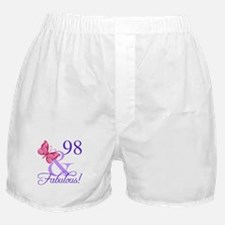 Fabulous 98th Birthday Boxer Shorts