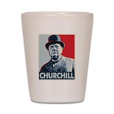 Winston Churchill Shot Glass
