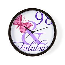 Fabulous 98th Birthday Wall Clock