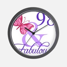 Fabulous 98th Birthday Wall Clock