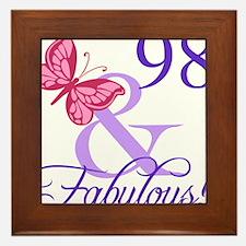 Fabulous 98th Birthday Framed Tile