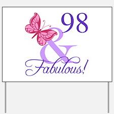 Fabulous 98th Birthday Yard Sign