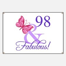 Fabulous 98th Birthday Banner