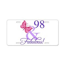 Fabulous 98th Birthday Aluminum License Plate