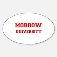 MORROW UNIVERSITY Oval Decal