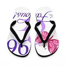Fabulous 96th Birthday Flip Flops