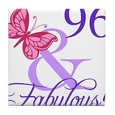 Fabulous 96th Birthday Tile Coaster