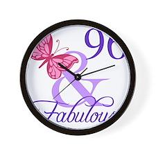 Fabulous 96th Birthday Wall Clock