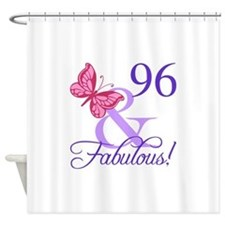 Fabulous 96th Birthday Shower Curtain