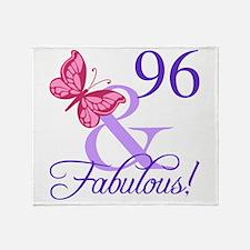 Fabulous 96th Birthday Throw Blanket