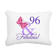 Fabulous 96th Birthday Rectangular Canvas Pillow