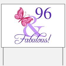 Fabulous 96th Birthday Yard Sign