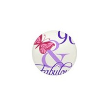 Fabulous 96th Birthday Mini Button (10 pack)