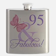 Fabulous 95th Birthday Flask