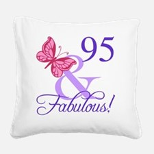 Fabulous 95th Birthday Square Canvas Pillow