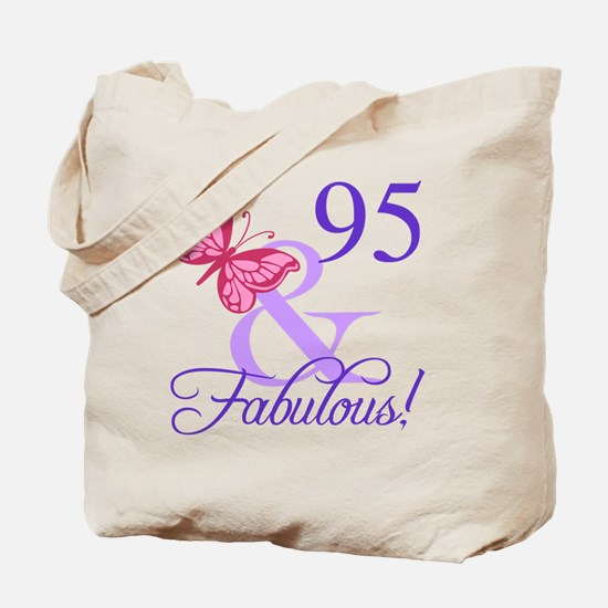 Fabulous 95th Birthday Tote Bag