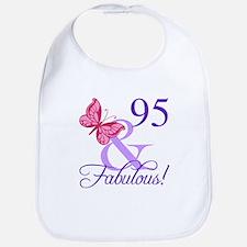 Fabulous 95th Birthday Bib