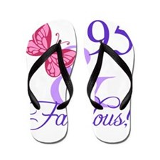 Fabulous 95th Birthday Flip Flops