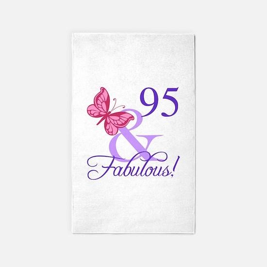 Fabulous 95th Birthday 3'x5' Area Rug