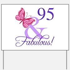 Fabulous 95th Birthday Yard Sign