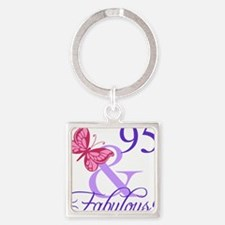 Fabulous 95th Birthday Keychains