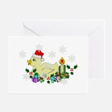 Yellow Christmas Duck Greeting Card