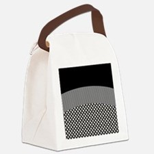 Black White Canvas Lunch Bag