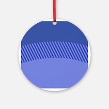 Blue Stripes Ornament (Round)