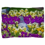 Pigeon and Pansies Pillow Sham