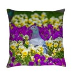 Pigeon and Pansies Master Pillow