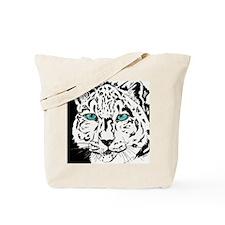 Snow Leopard in Winter Tote Bag