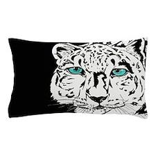 Snow Leopard in Winter Pillow Case