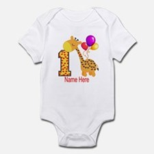 1st Birthday Giraffe Custom Infant Bodysuit