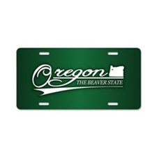 Oregon State of Mine Aluminum License Plate