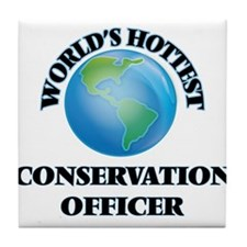 World's Hottest Conservation Officer Tile Coaster