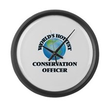 World's Hottest Conservation Offi Large Wall Clock