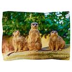 Meerkats standing guard Pillow Sham
