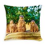 Meerkats standing guard Master Pillow