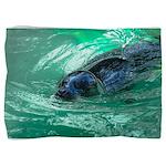 Swimming Seal Pillow Sham