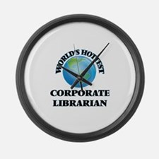World's Hottest Corporate Librari Large Wall Clock