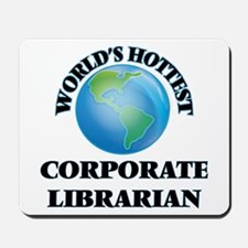 World's Hottest Corporate Librarian Mousepad