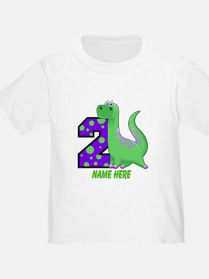 2nd Birthday Dinosaur Custom T