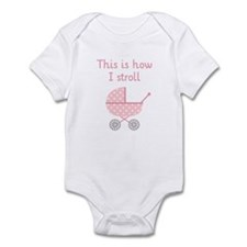 funny baby stroller polka dots Body Suit