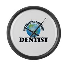 World's Hottest Dentist Large Wall Clock