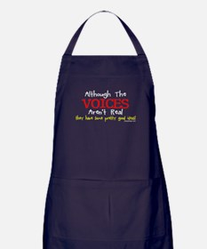 Although The Voices Aren't Real Funny Apron (dark)