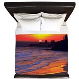 Ocean sunset Luxe King Duvet Cover