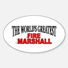 """""""The World's Greatest Fire Marshall"""" Decal"""