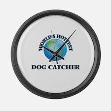 World's Hottest Dog Catcher Large Wall Clock
