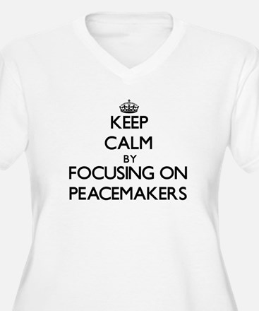 Keep Calm by focusing on Peacema Plus Size T-Shirt