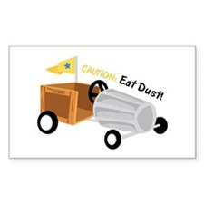 Caution Eat Dust Decal
